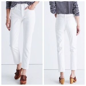 Madewell Cruiser Straight Jeans in Pure White